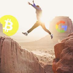 Bitcoin interest jumps on Google, trends down on Twitter