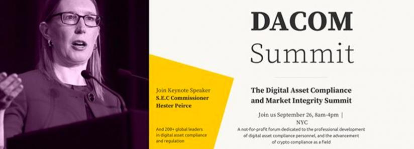 DACOM Summit By Solidus Labs Brings Together Crypto Compliance Leaders, with SEC Commissioner Hester Peirce Confirmed as Keynote Speaker
