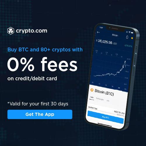 Buy BTC and 80+ cryptos with 0% fees