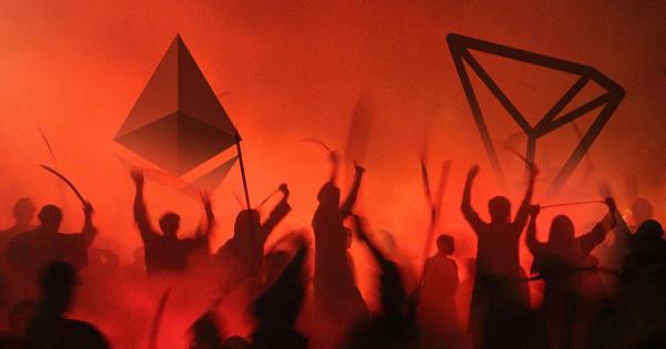 Ethereum Vs. TRON Battle Intensifies: Vitalik Buterin and Justin Sun Clash Over Twitter