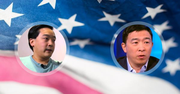 US 2020 presidential candidate Andrew Yang meets with Litecoin founder
