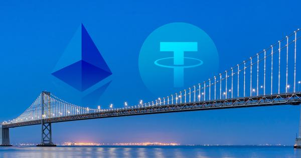 Tether slowly migrating from the Bitcoin to Ethereum blockchain