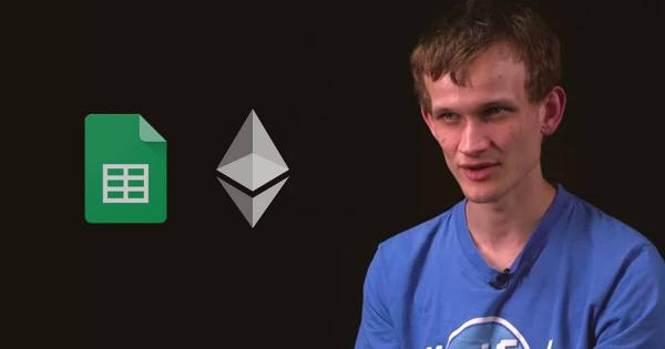 """Vitalik Buterin discusses how Google could use Ethereum for better """"spreadsheets"""""""