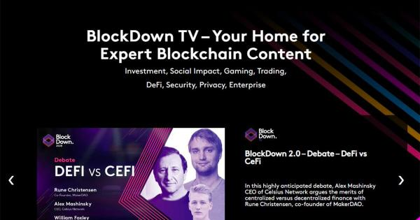 BlockDown Conference launches video on demand service, BlockDown TV