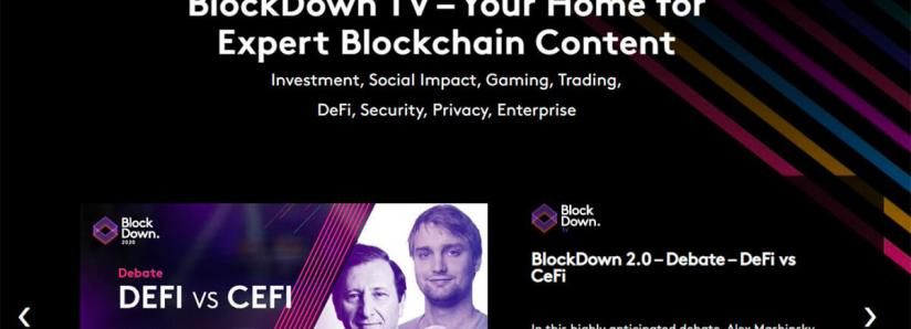 BlockDown launches BlockDown TV – The New Video Hub For Leading Blockchain Insight and Debate
