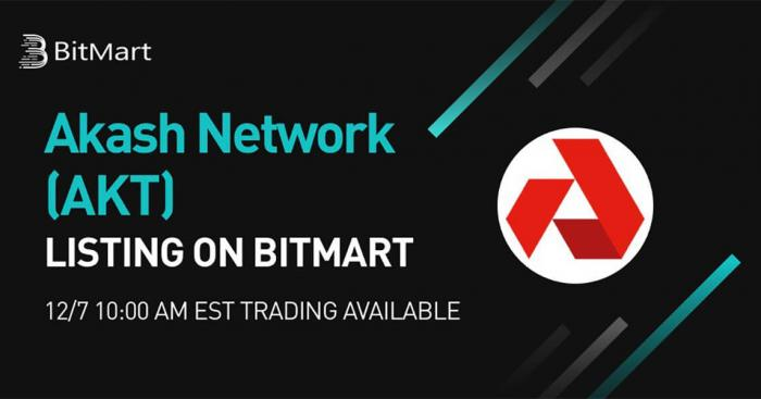 Akash Network, the World's First Decentralized Cloud Computing Marketplace for DeFi, to List on BitMart