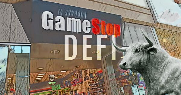 DeFi bulls continue to roar as Gamestop (GME) saga continues