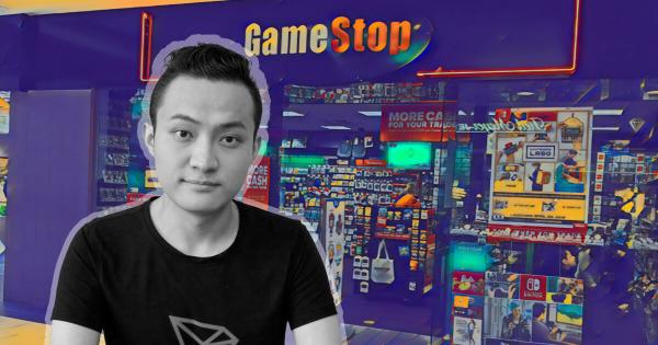 Tron (TRX) founder Justin Sun to buy $1 million of GameStop stock