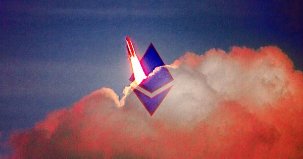 Ethereum (ETH) rockets to a new all-time high at $1,650 as altcoin market cools