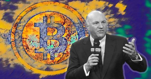 Shark Tank's Kevin O'Leary allocates 3% of portfolio to Bitcoin