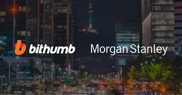 Morgan Stanley reportedly looks to acquire stake in Korean exchange Bithumb