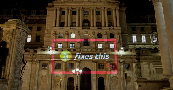 Crypto enthusiast projects 'Bitcoin fixes this' on Bank of England
