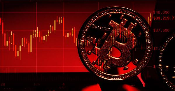 Bitcoin ranges in the high $30,000s—but technicals suggest there's 'red' ahead