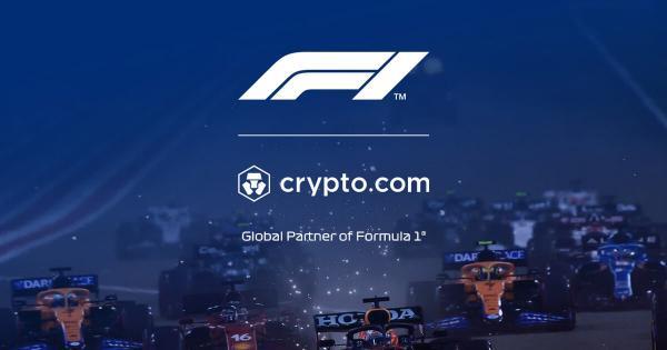 Formula 1 takes on Crypto.com as 'cryptocurrency sponsor'