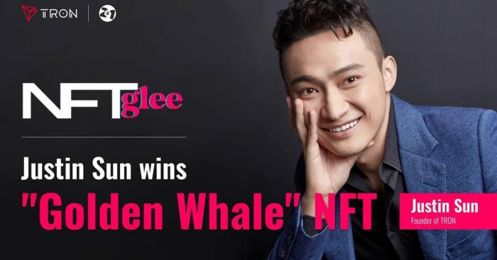 Justin Sun Wins The Bid For NFT Glee's Golden Whale Pass : The Highest Priced Bitcoin NFT To Date
