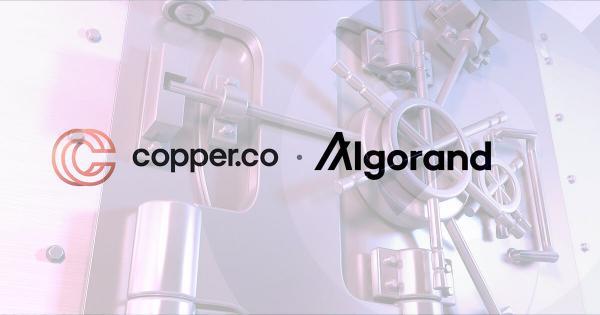 Algorand (ALGO) is all set to get institutional custodian support via Copper