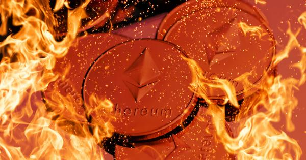 $100 million in ETH burned days after EIP-1559 upgrade