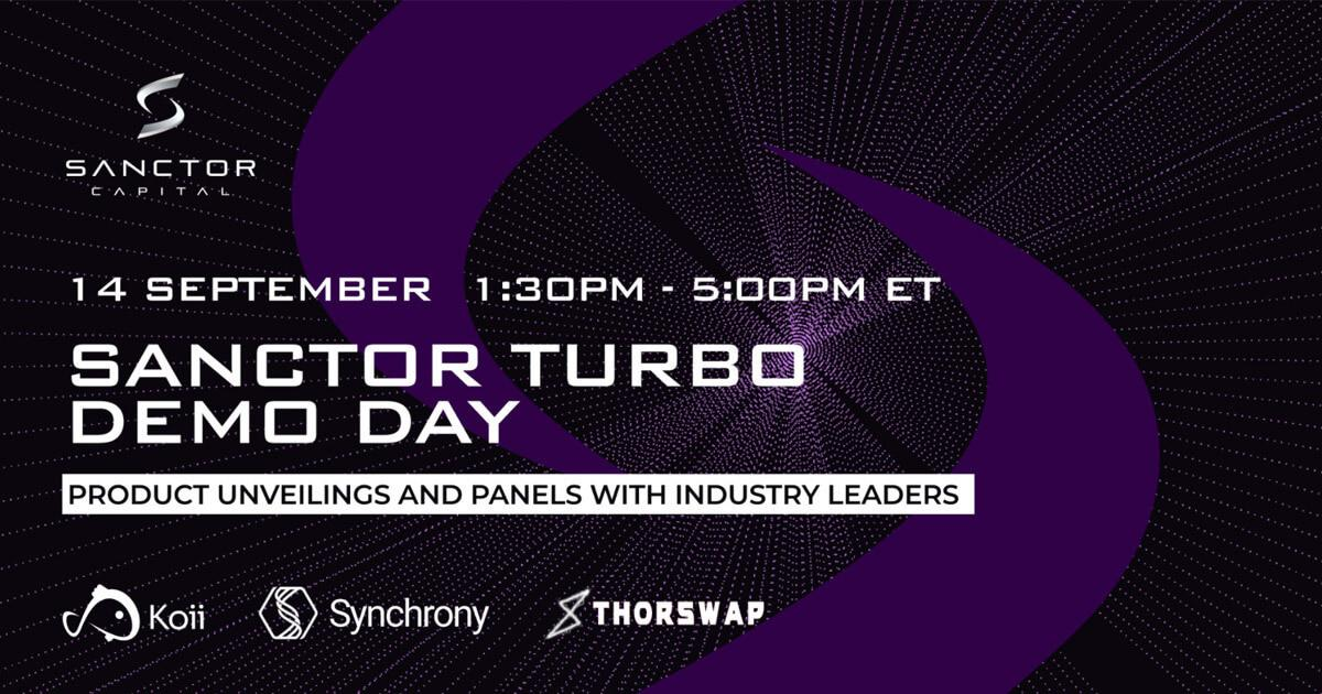 Sanctor Turbo's Demo Day is a crypto event you wouldn't wanna miss