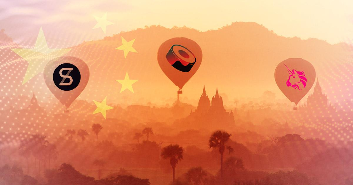 DeFi tokens SUSHI, SNX, UNI emerge as winners after China's crypto crackdown