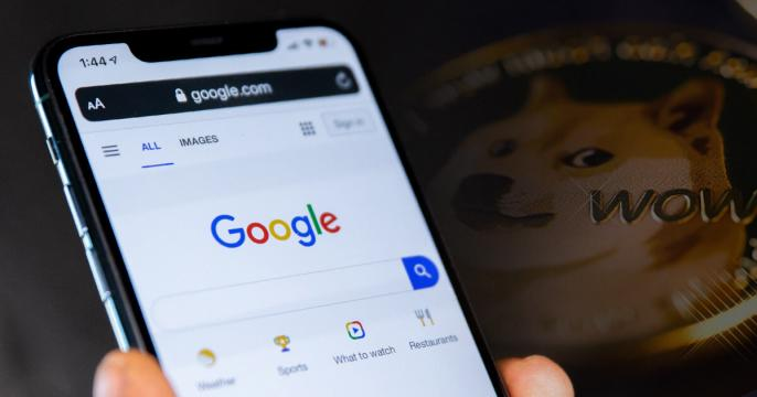 Dogecoin (DOGE) ranks number one by Google searches in the U.S