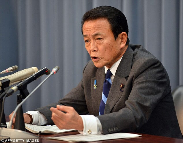 Finance Minister Taro Aso