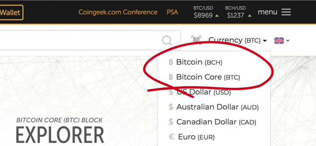 Before the lawsuit, BCH is referred to as Bitcoin on Bitcoin.com