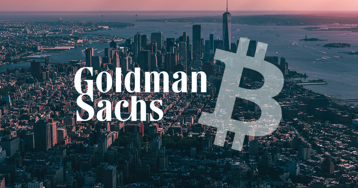 goldman sachs starting a trading desk for cryptocurrency