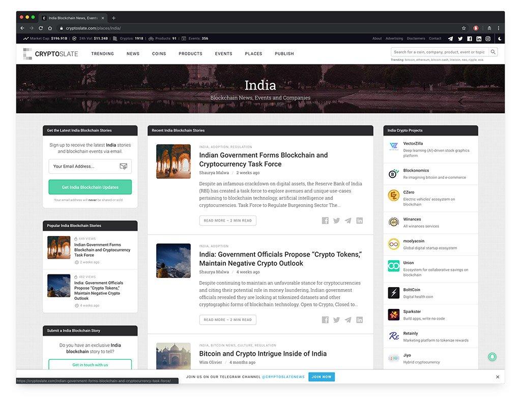 CryptoSlate India
