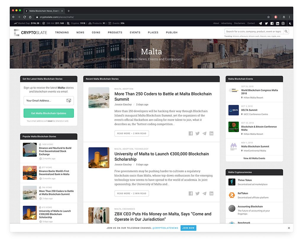 CryptoSlate Malta