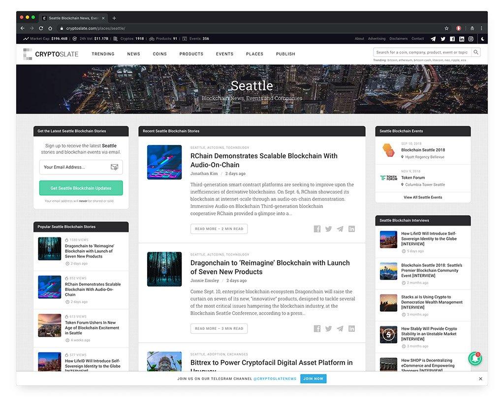 CryptoSlate Seattle