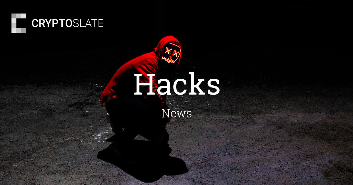 Cryptocurrency Hacks News | CryptoSlate