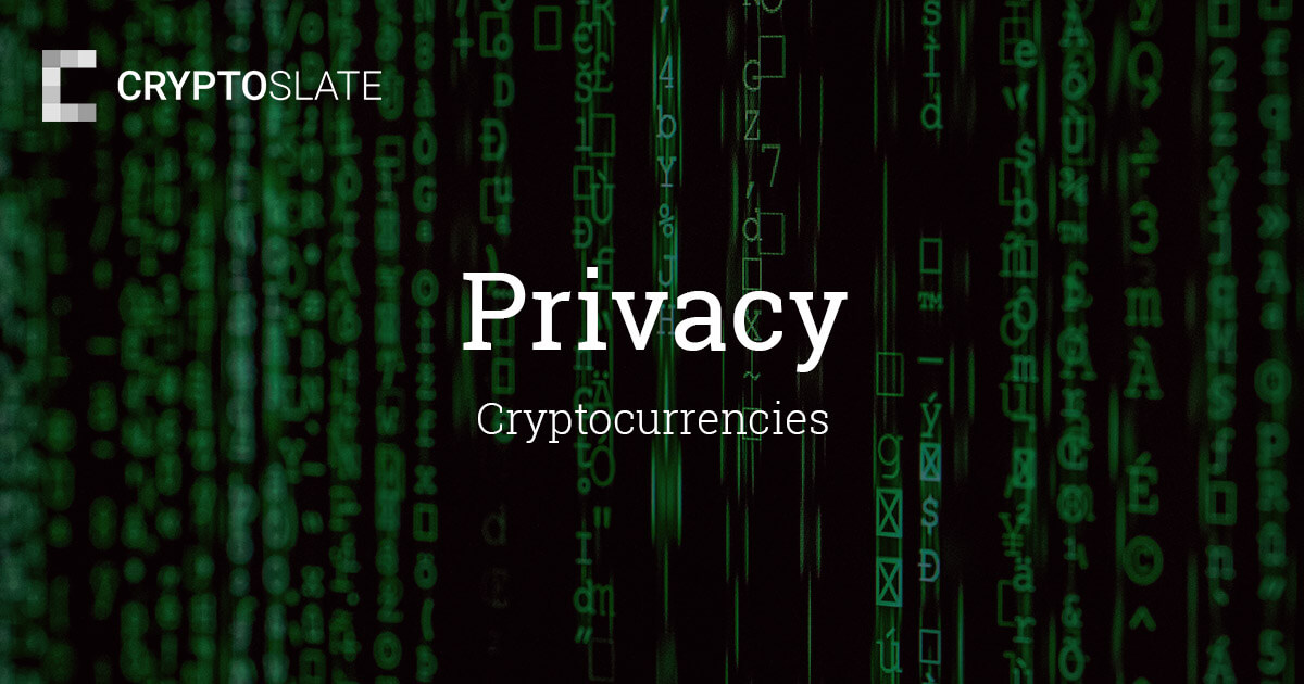 Privacy Cryptocurrencies | CryptoSlate