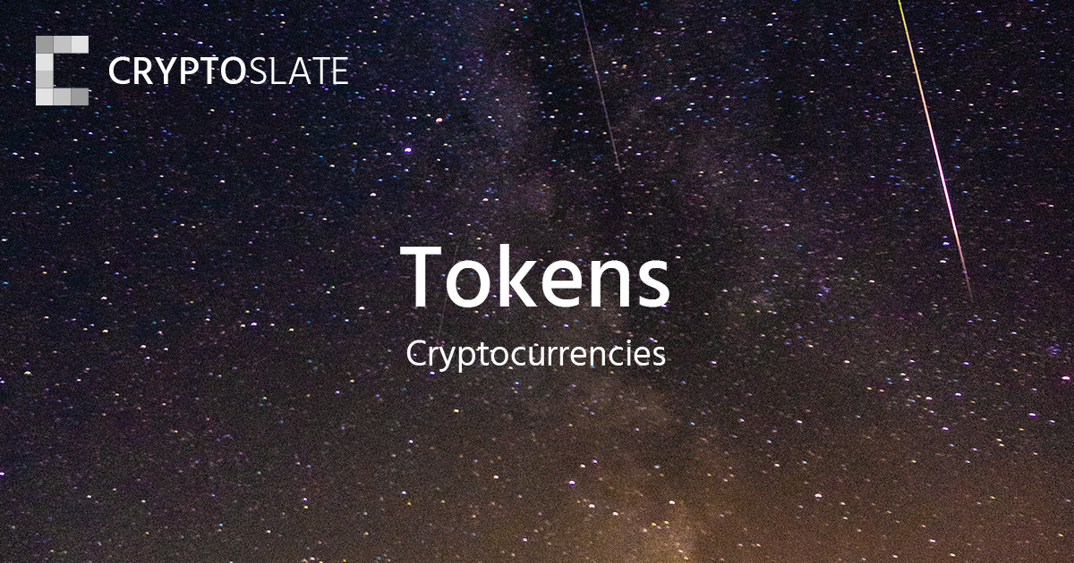 Token Cryptocurrencies | CryptoSlate