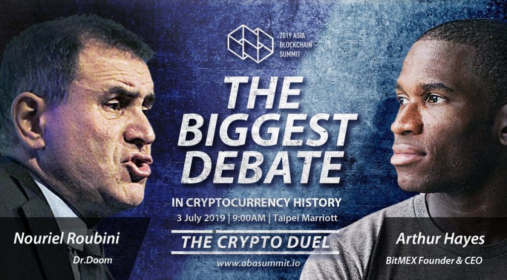 Will BitMEX Chief Executive Officer Arthur Hayes discussion Bitcoin doubter Nouriel Roubini? 1