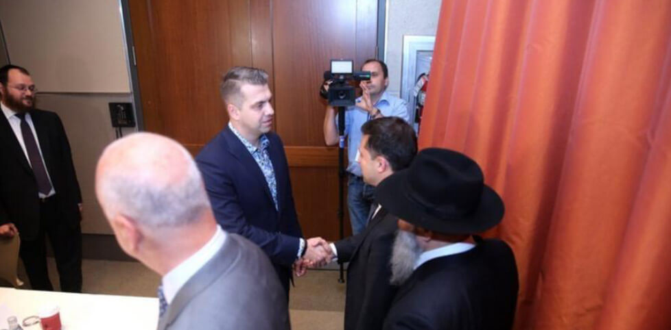 Velas CEO Alex Alexandrov and Ukraine President Volodymyr Zelensky