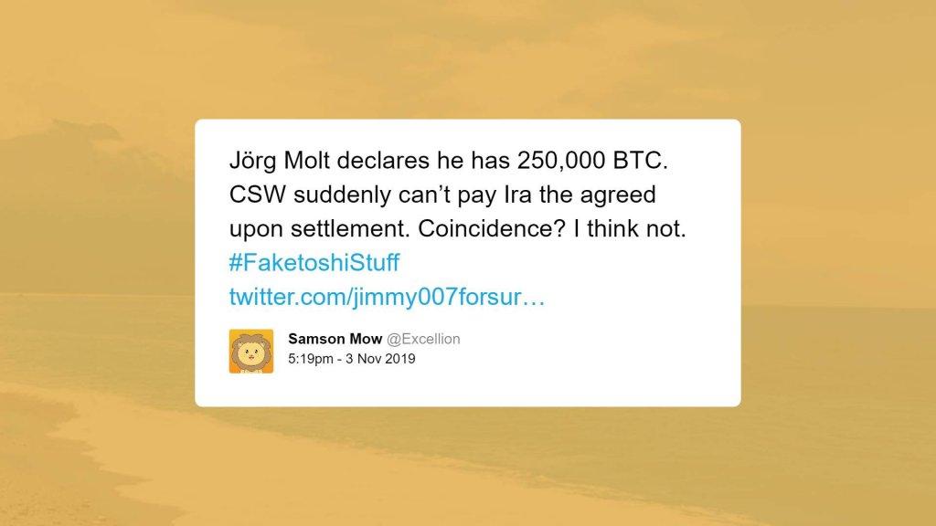 Samson Mow tweet