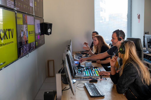 BLOCKTV Control Room. Photo by: Tal Shahar