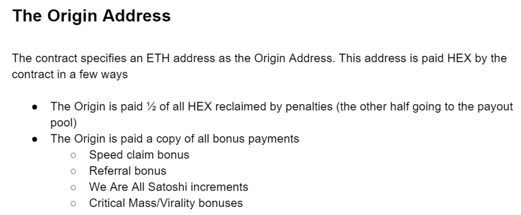 HEX Origin Address