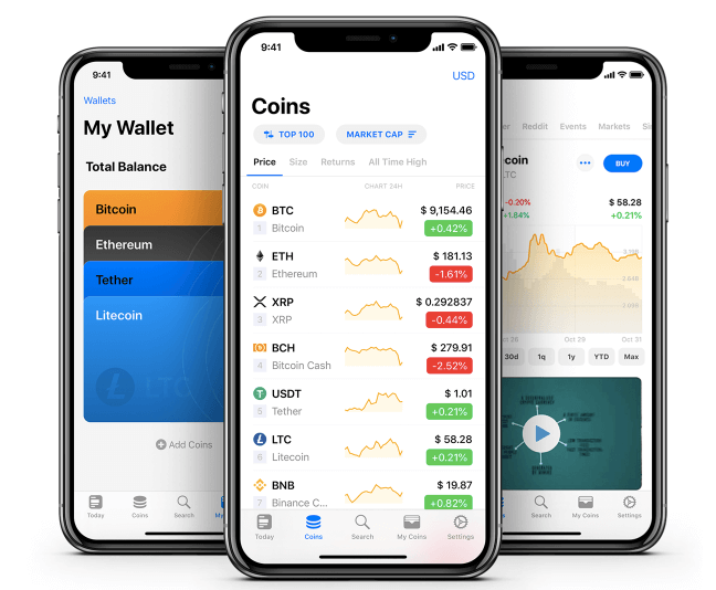COINS app by coinpaprika
