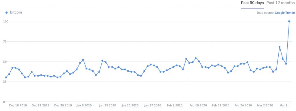 Bitcoin search volume