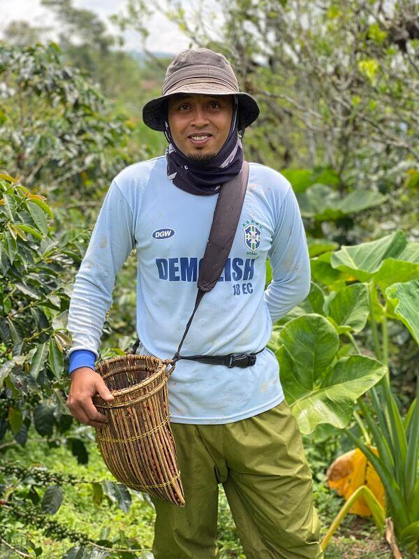 a Kerinci region coffee farmer
