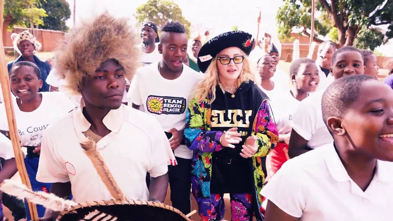 Madonna at a Ripple charity in Africa