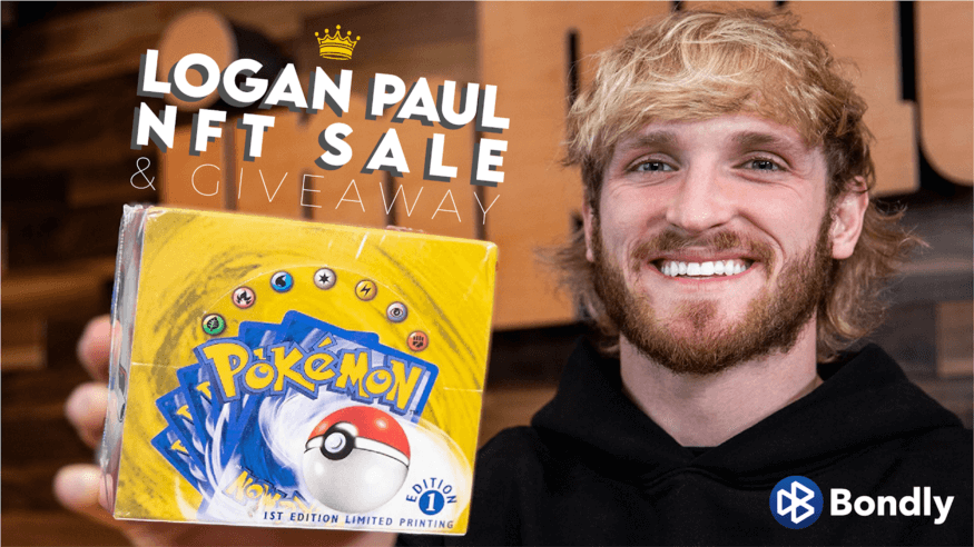 Logan Paul NFTs marketed with Pokemon