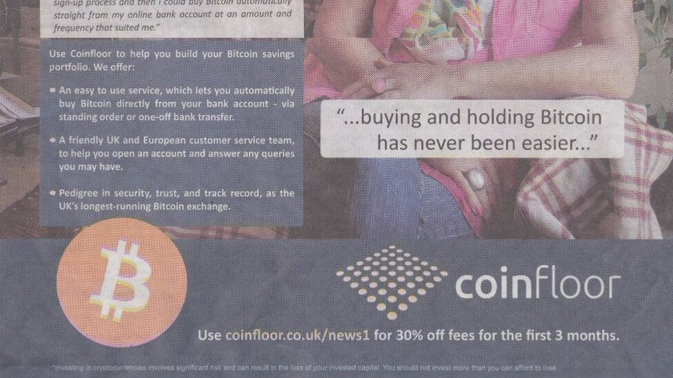 Bitcoin ad by Coinfloor