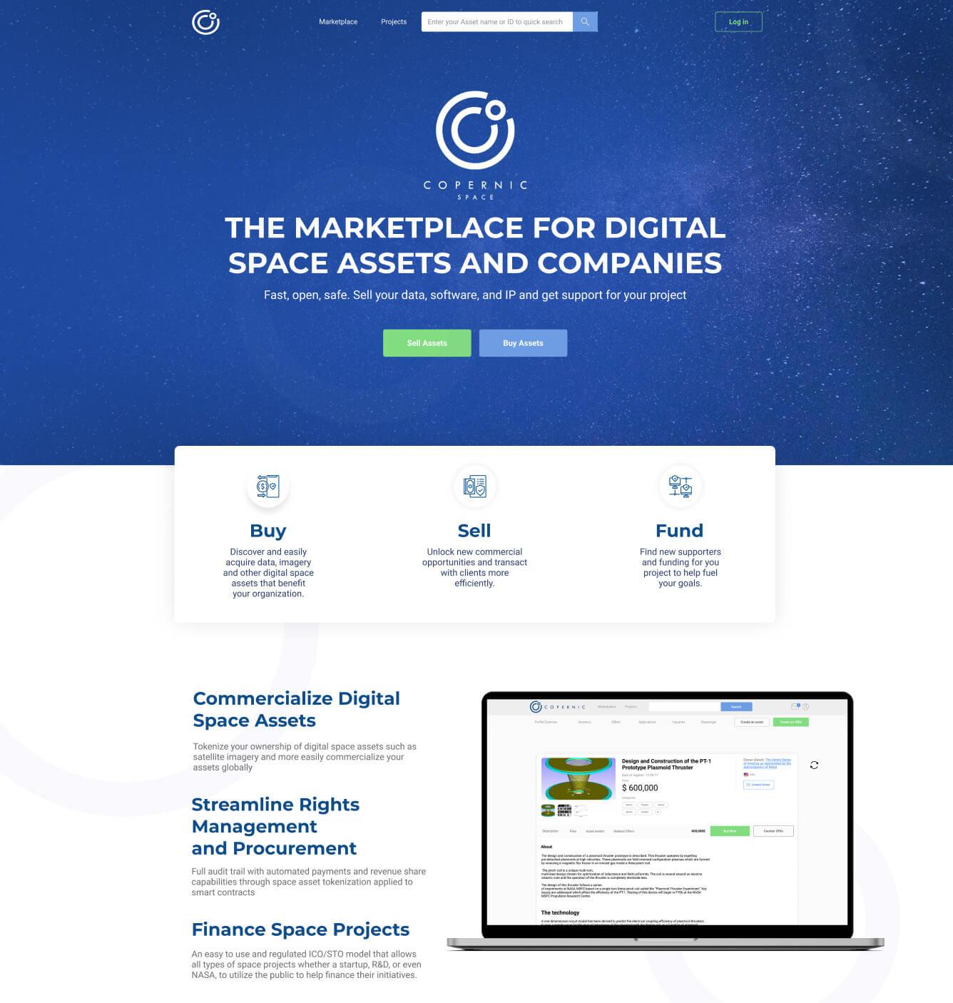 Copernic Space Website