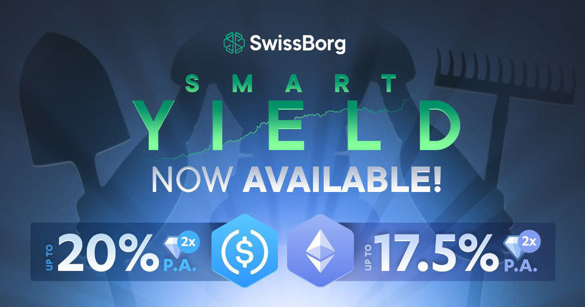 SwissBorg's 'Smart Yield' wallet is offering up to 17.5% APY on Ethereum