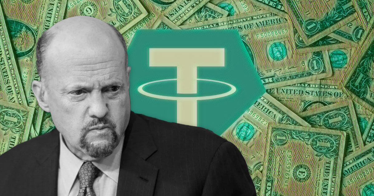 Jim Cramer calls Tether (USDT) the 'Achilles heel' of crypto while USDC gets auditor greenlight