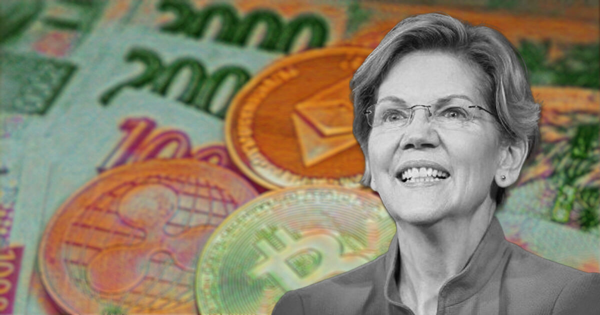 Senator Elizabeth Warren says crypto might need a 'bailout' if things go wrong