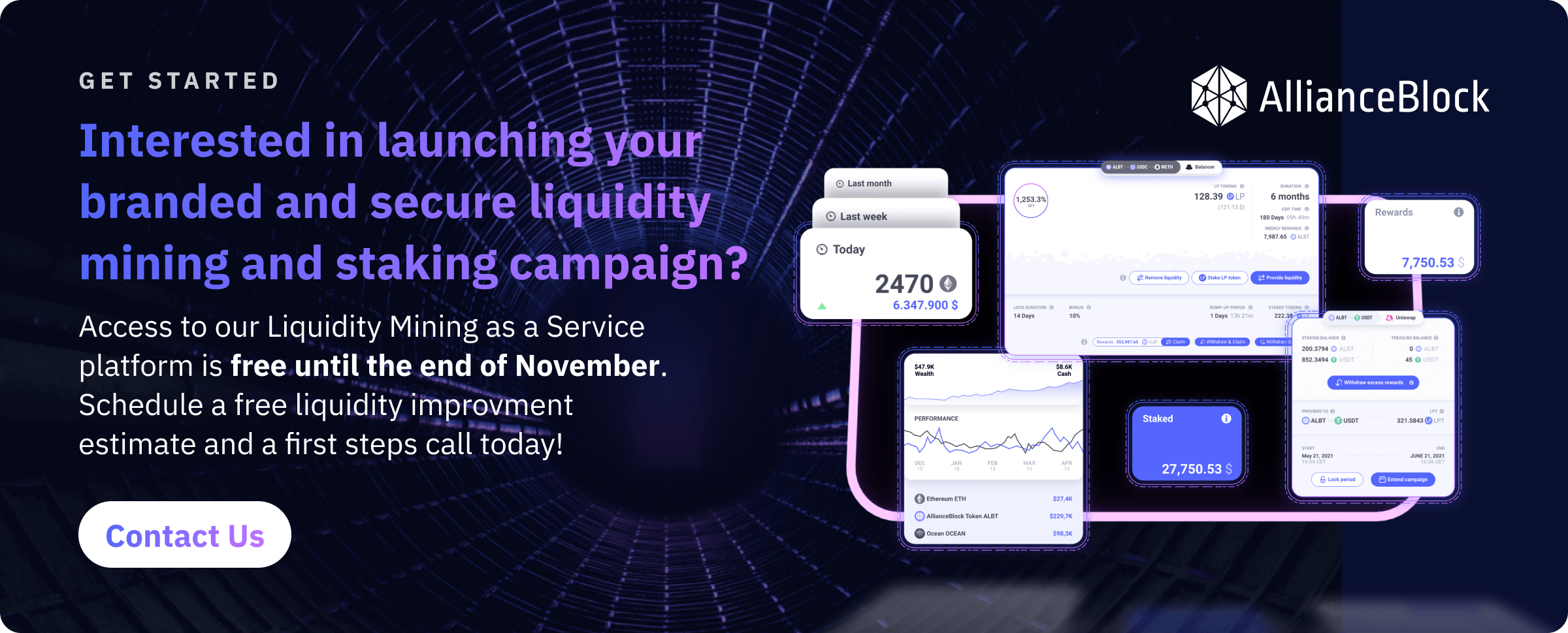 Get started with your own liquidity mining and staking campaigns