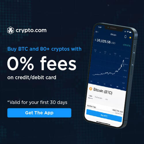 Buy BTC and 80 cryptos with 0% fees on credit/debit card